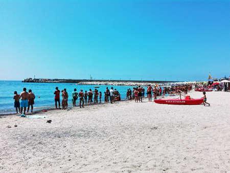 crowded: Crowded beach