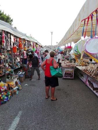 street market: A street market