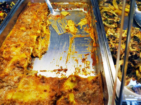 dinnertime: Lasagna with cream sauce