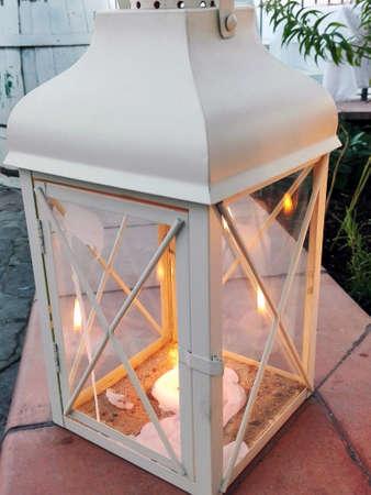 hurricane lamp: Lantern