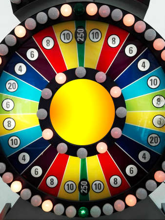 Spin the wheel Stock Photo
