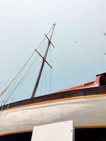 slew: Sailboat in boathouse