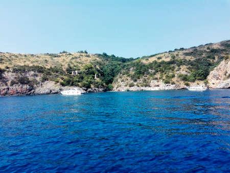navigating: Navigating along the coast Stock Photo