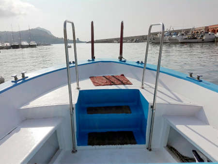 motor boat: Travelling on a motor boat Stock Photo