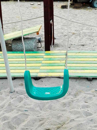 totter: Seesaw at beach