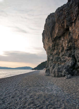 gravelly: Rocky beach Stock Photo