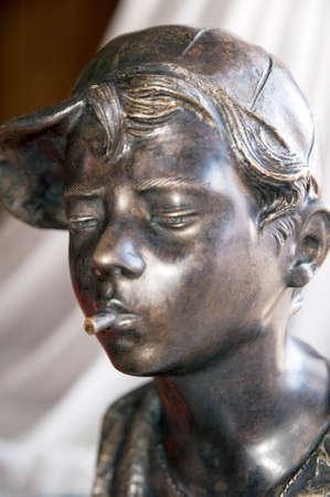 neapolitan: Bust Bronze of a Neapolitan street urchin