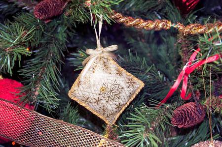 gewgaw: Christmas tree decorations Stock Photo