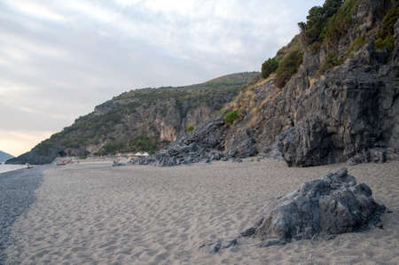 gravelly: Beach, Marina di Camerota, Italy
