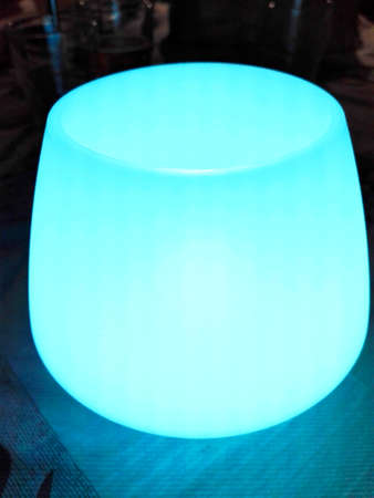 rubbery: Pale blue Table Lamp Stock Photo