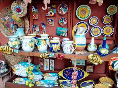 knack: Souvenir vendor Stock Photo