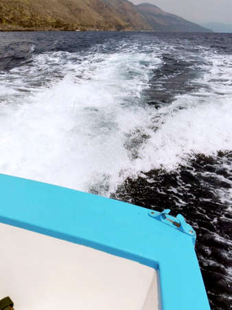 motorboats: Motorboats waves Stock Photo