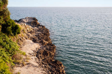 A spur of rock along the coast (horizontal)