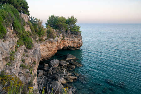 Rocks along the sea cliff