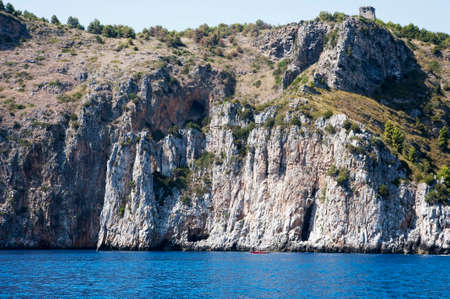 promontory: South Mediterraneans coastline, Italy Stock Photo