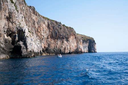 Boating along the coast Banco de Imagens