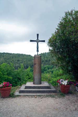 Jesus crucifix in the churchyard