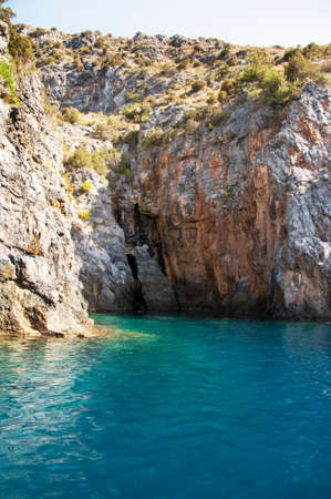 A typical cove along the indented Cilento coastline.