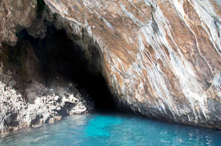 A natural cavern reachable by boat along the Cilento's coastline, Italy