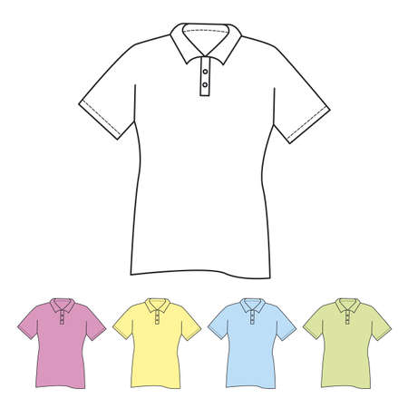 Polo shirt on white background Vector