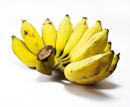 musa: Banana on white background. Stock Photo
