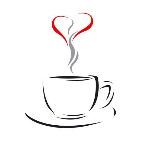 tasse caf�: Coupe de l'amour