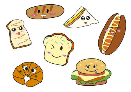 pan con mantequilla: Panader�a de dibujos animados