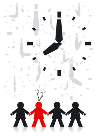 Businessman and Time Stock Vector - 13592092