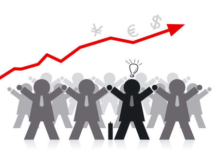 jointly: Businessman Illustration