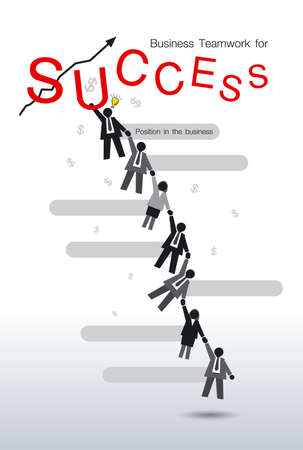 jointly: Business teamwork for success Illustration