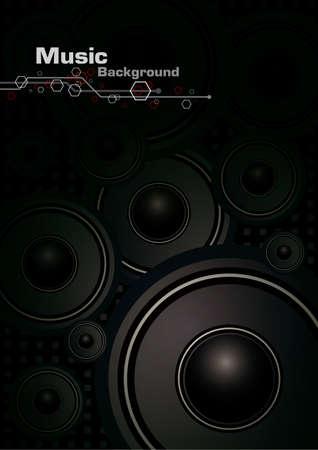 musik hintergrund: Musik Hintergrund-Design Illustration