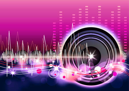 Musik Hintergrund-Design Standard-Bild