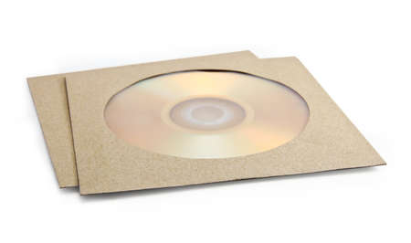 compact disk: Compact disk in pack on white background