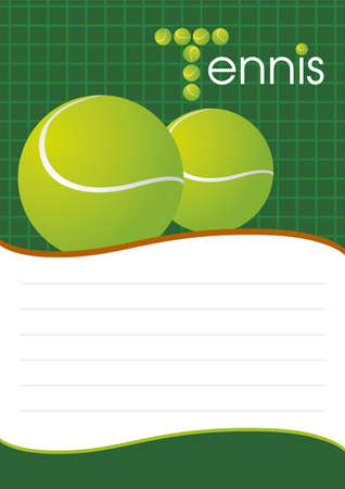 Tennis background design Stock Vector - 16139649