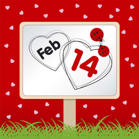 number 14: Love Concept for Valentines day