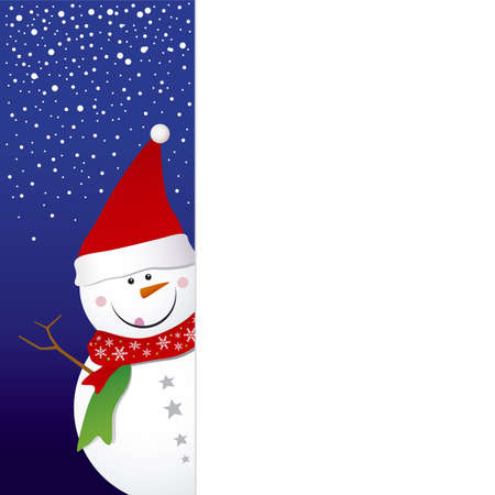Snowman design for christmas background Stock Vector - 16381169