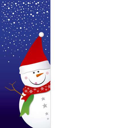 Snowman design for christmas background Stock Vector - 16381169