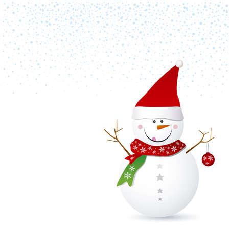 Snowman design for christmas background Stock Vector - 16381171