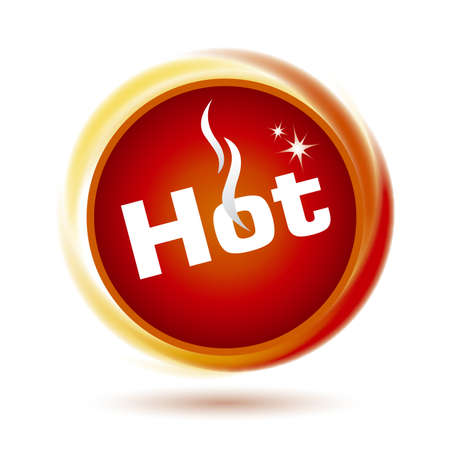Hot icon design Stock Vector - 16381175