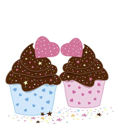 cupcakes isolated: Cupcakes design on white background Illustration