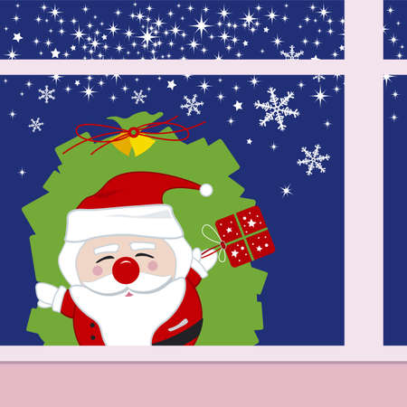 Santa claus design for christmas Vector
