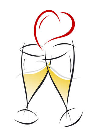 Champagne Glasses Design  Vector