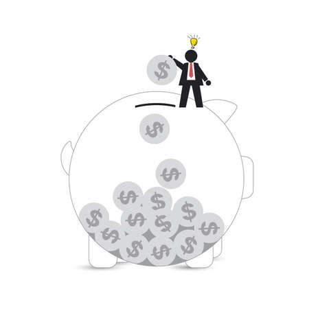 argent:  Piggy Bank Illustration