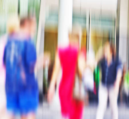 go shopping: People go shopping  Motion blur