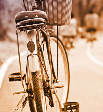 retro bicycle: Bicicleta Retro Foto de archivo