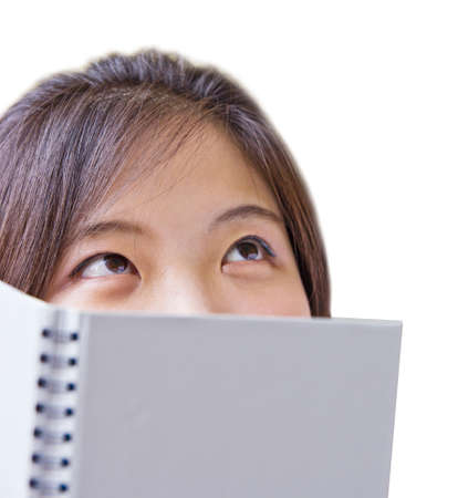 donna pensiero: Donna asiatica pensiero