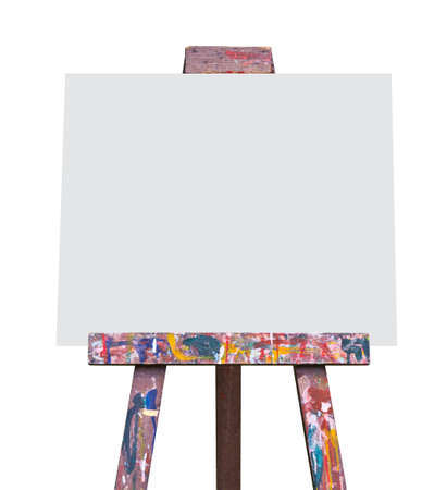 blank canvas: Easel isolated