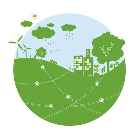 Ecology concepts Illustration