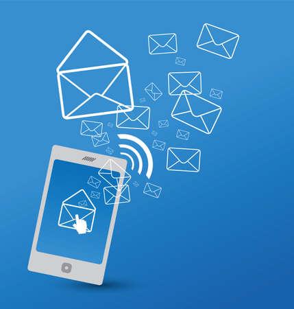 Email: Senden von SMS Illustration
