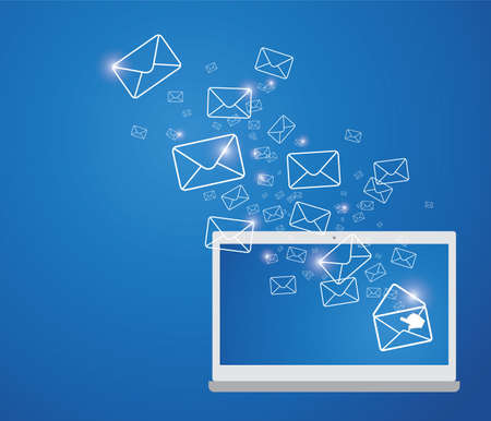 conection: Sending E-mail Illustration